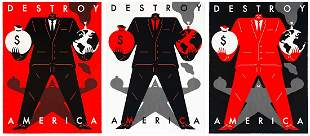 CLEON PETERSON 'Destroy America' (3-print Series)