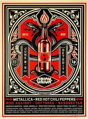 SHEPARD FAIREY 'Orion' (Metallica) Screen Print