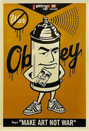 SHEPARD FAIREY x Ecko 'Getting Up' Offset Lithograph