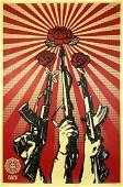 SHEPARD FAIREY 'Guns and Roses' Offset Lithograph