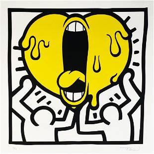 ANTOINE TAVA 'Dancing Screaming Heart' Screen Print