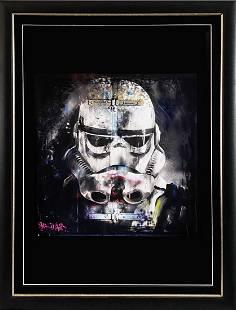 BALD ART 'Stormtrooper' Screen Print Framed