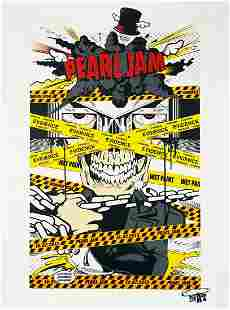 D*FACE x Pearl Jam 'Create a Racket' Screen Print