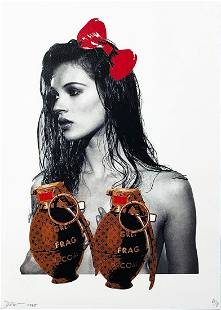 DEATH NYC 'Kate with Grenades' Lithograph Print