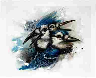 GREG (CRAOLA) SIMKINS 'Of a Feather' Giclée Print
