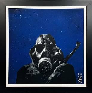 LOIS 'Midnight Sniper' Original Spray/Stencil on Canvas