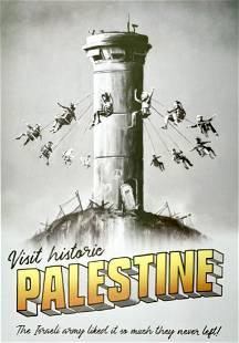 BANKSY 'Visit Historic Palestine' Lithograph Poster