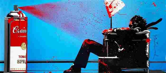 MR. BRAINWASH 'Max Spray' Offset Lithograph