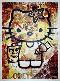 SHEPARD FAIREY 'Hello Kitty' RARE Screen Print