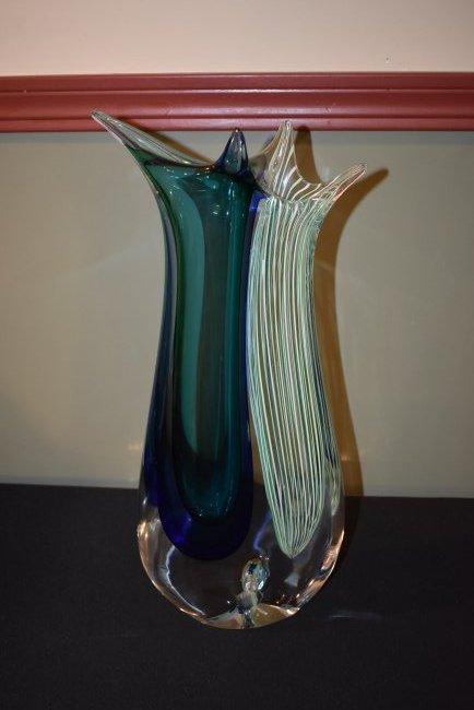 Silvano Signoretto Large Murano Glass Vase