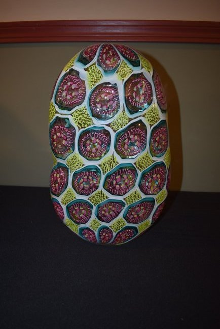 Wes Hunting Abstract Large Art Glass Vase