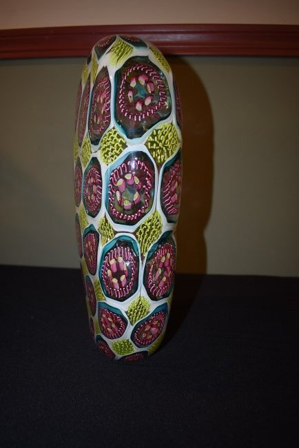 Wes Hunting Abstract Large Art Glass Vase - 2