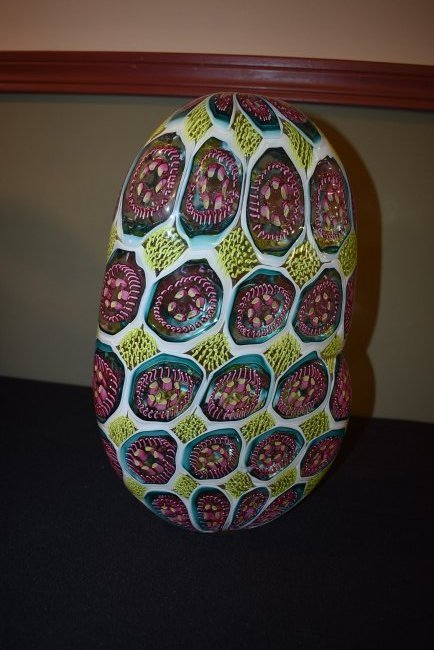 Wes Hunting Abstract Large Art Glass Vase - 3