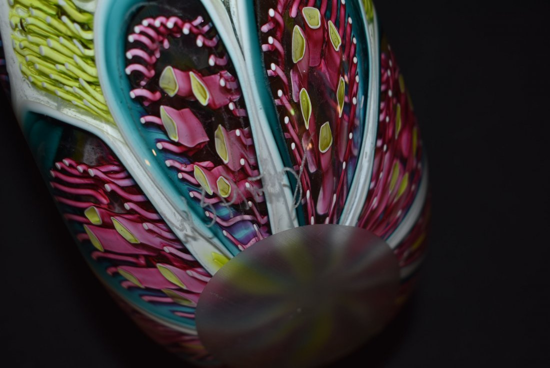 Wes Hunting Abstract Large Art Glass Vase - 5