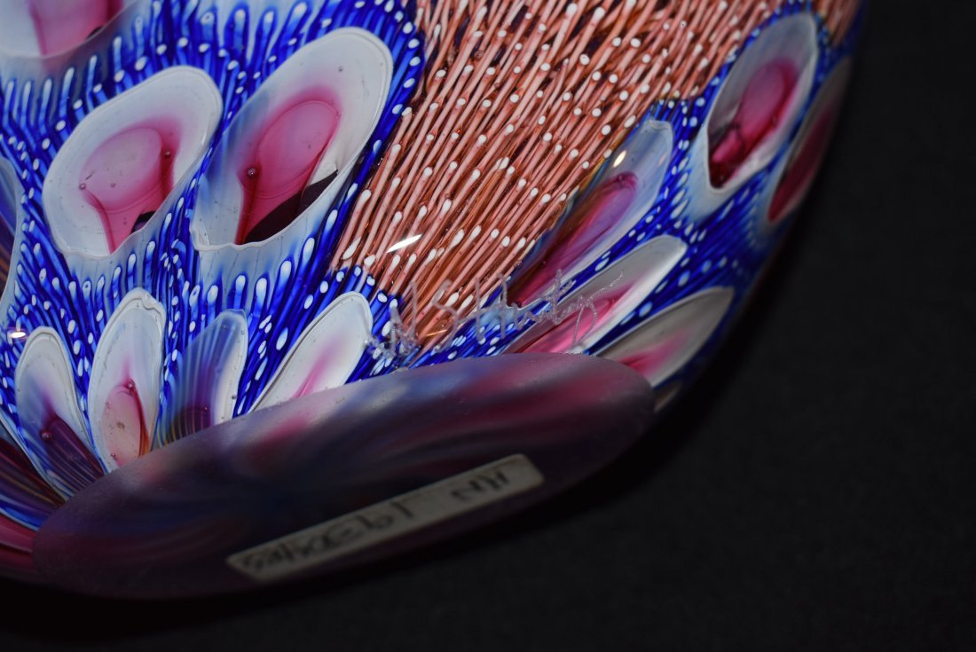 Wes Hunting Large Abstract Art Glass Vase - 5
