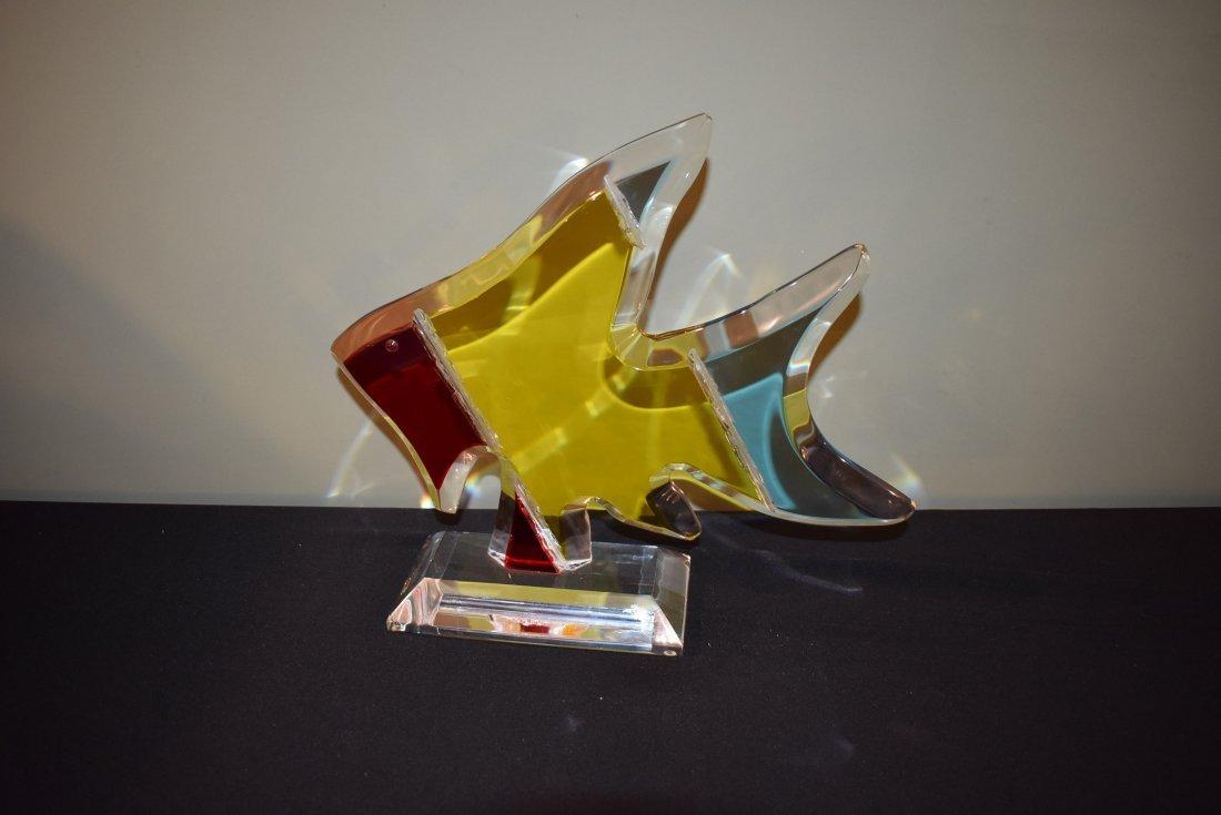 Shalomi Haziza Acrylic Fish Sculpture - 2