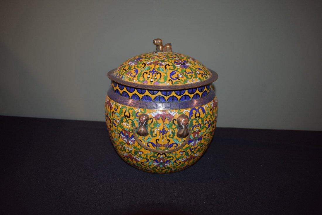 Antique Cloisonne Lidded Ginger Jar