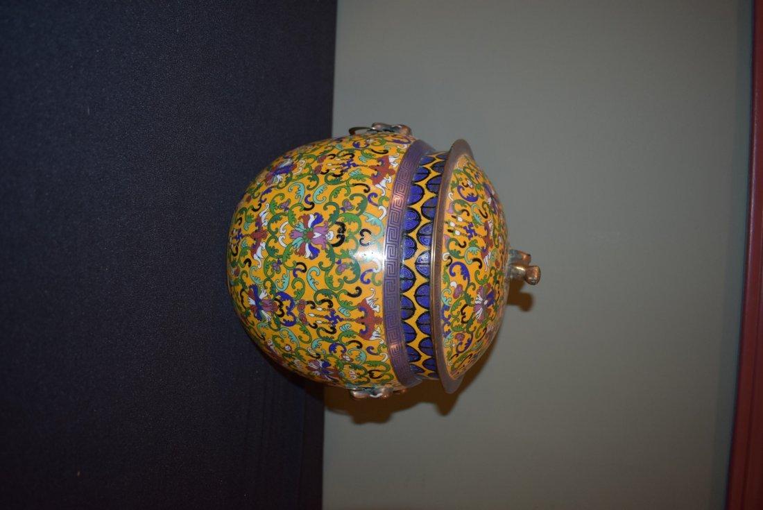Antique Cloisonne Lidded Ginger Jar - 3