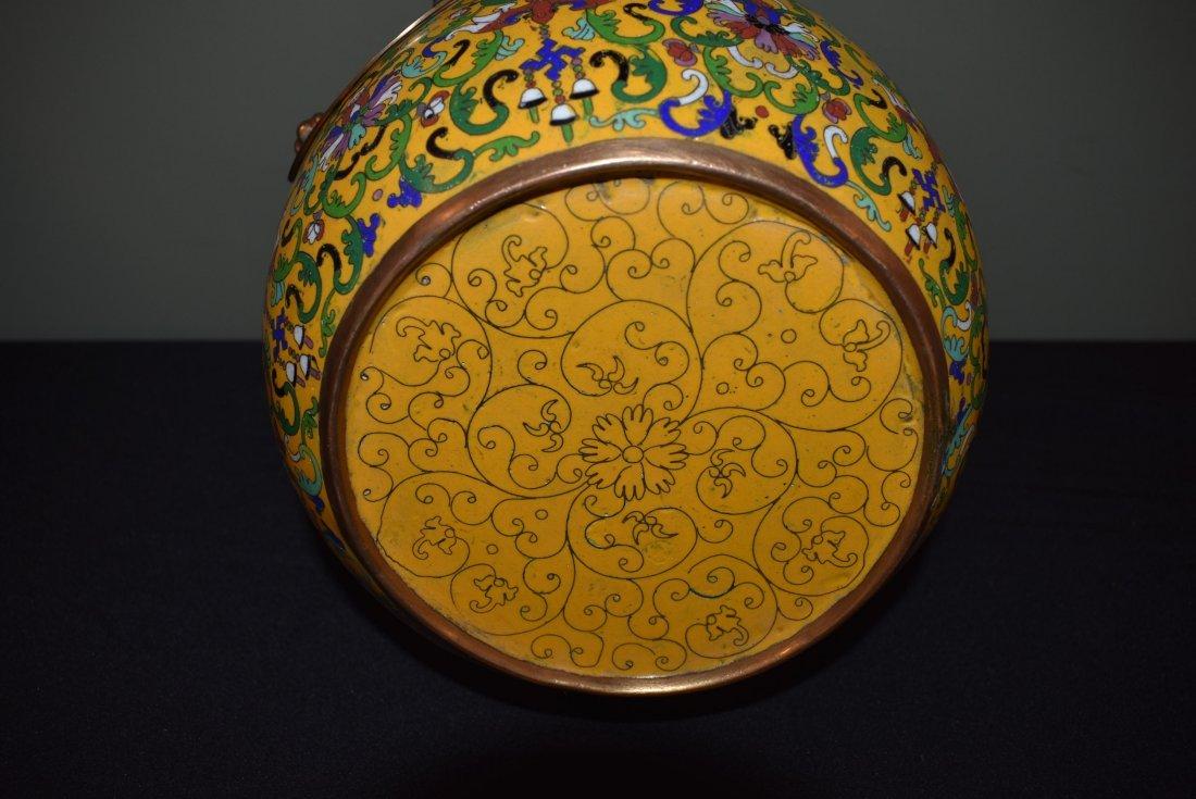Antique Cloisonne Lidded Ginger Jar - 5