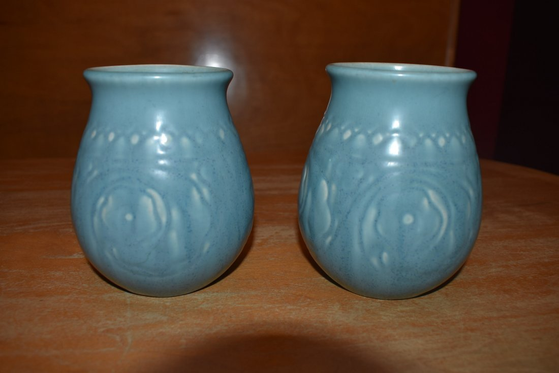 Pair of Blue Rookwood Pottery Vases