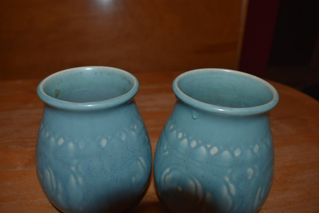 Pair of Blue Rookwood Pottery Vases - 2