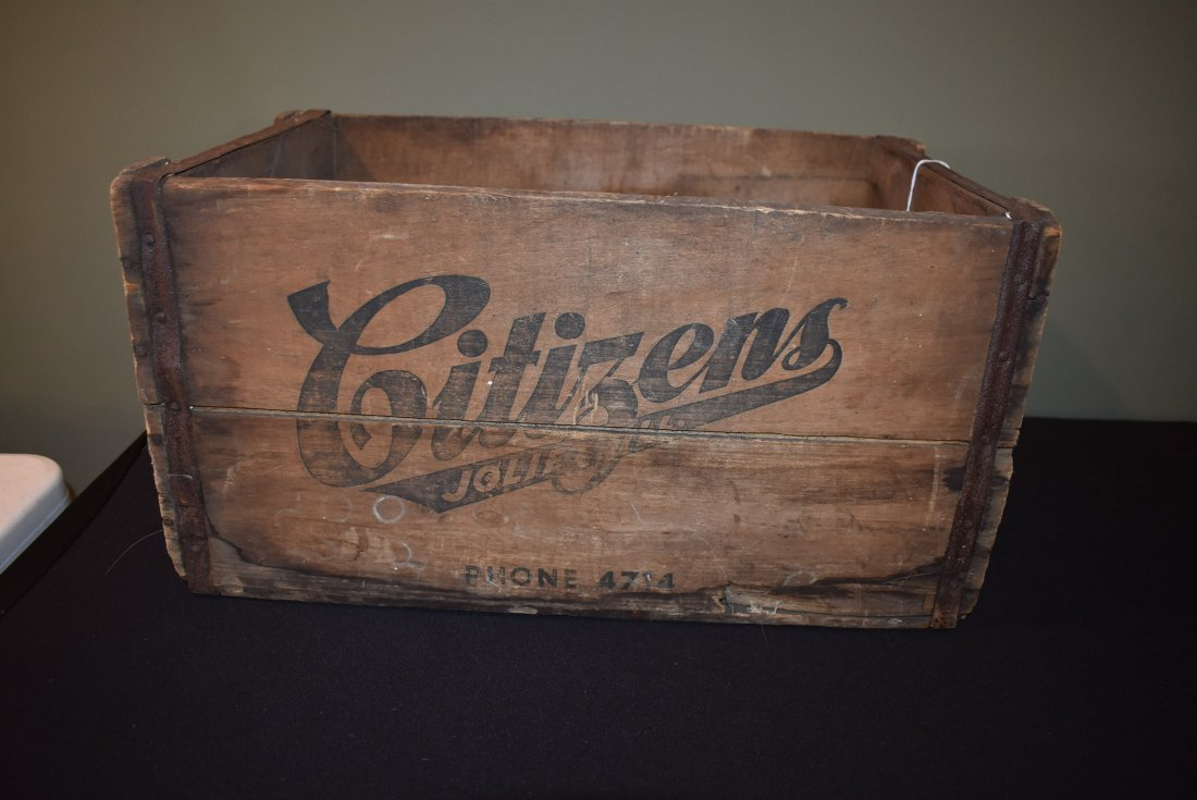 Antique Citizens Beer Brewery Joliet IL Crate
