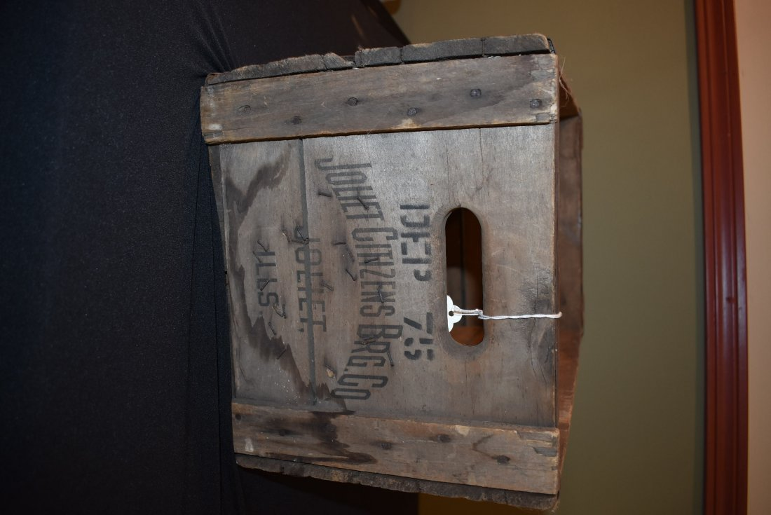 Antique Citizens Beer Brewery Joliet IL Crate - 2