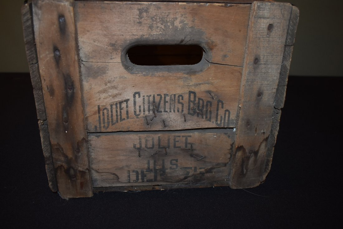 Antique Citizens Beer Brewery Joliet IL Crate - 4