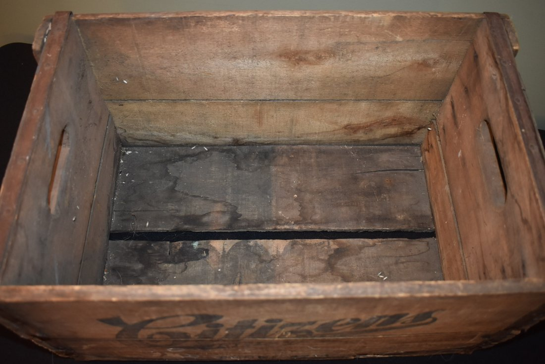 Antique Citizens Beer Brewery Joliet IL Crate - 5