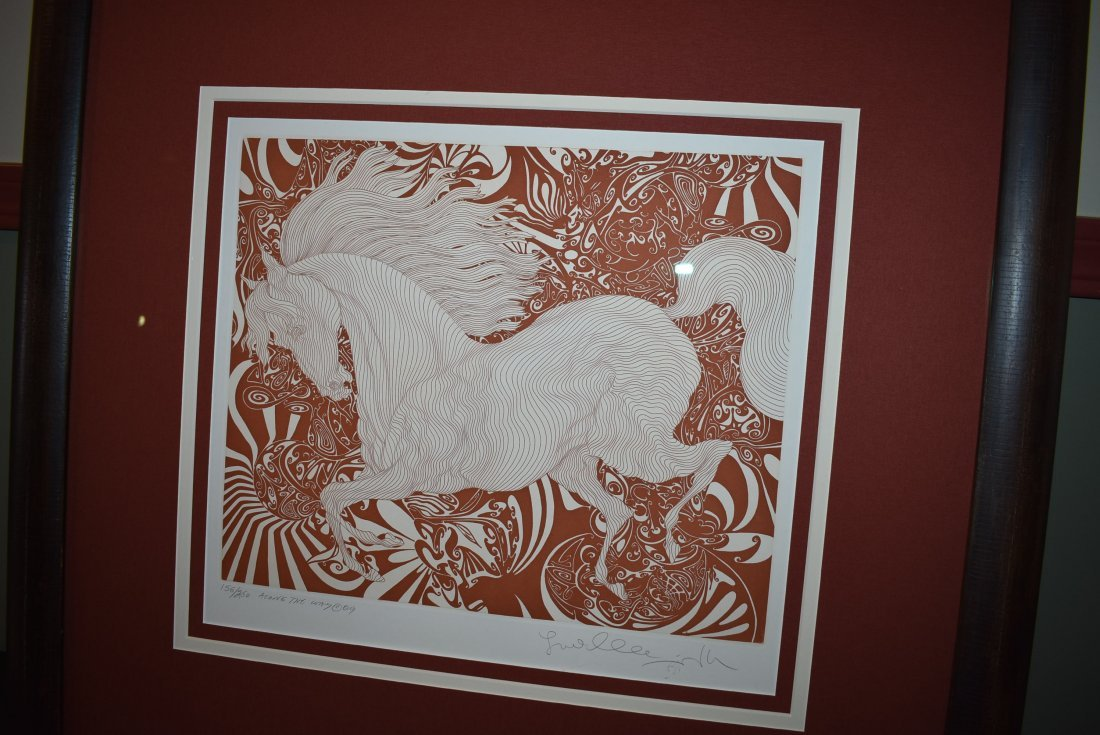 Guillaume Azoulay Signed Numbered Etching of a Horse - 2
