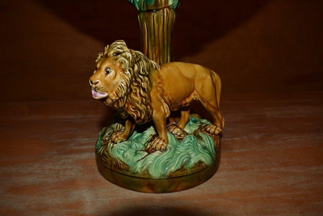 """Rare GEORGE JONES Majolica Centerpiece """"Africa"""" - 2"""