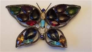 Vintage Large KJL Kenneth J Lane Butterfly Brooch