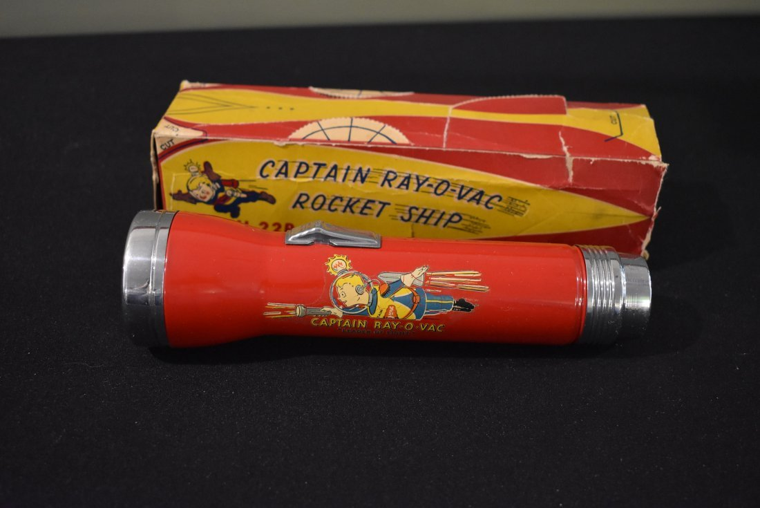 Vintage Captain Ray-O-Vac Rocket Ship Flashlight