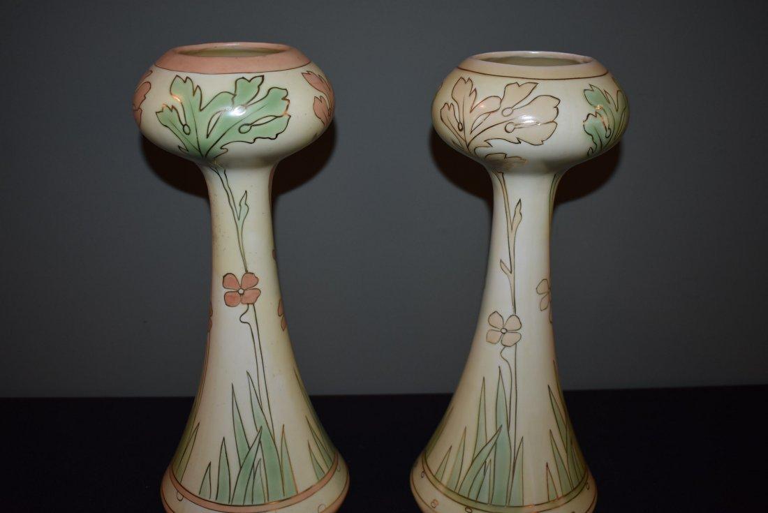 Pair of Early Art Nouveau Royal Dux Vases