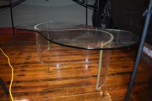 6a6646f8bbb8 Mid-Century Lucite   Glass Coffee Table