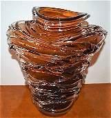 Huge Ion Tamian Contemp Hand Blown Glass Centerpiece