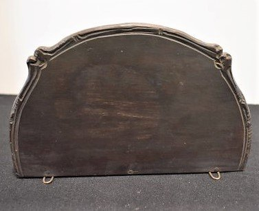 Carved Black Forest Ibex Wall Hanging Shelf - 5