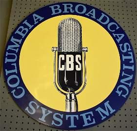 Porcelain CBS Radio Broadcast Sign Steve Jelf