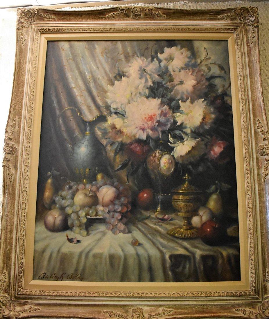 Balogh Bela Still Life Oil on Canvas - 3