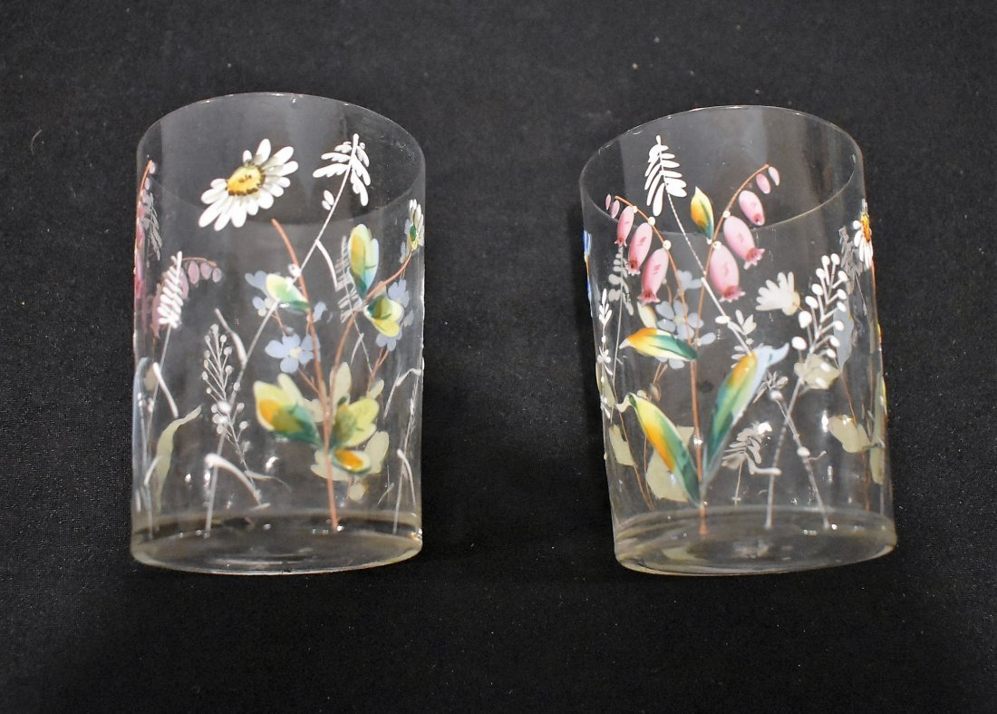 Beautiful Vintage Hand Painted Pitcher & Glasses Set - 3