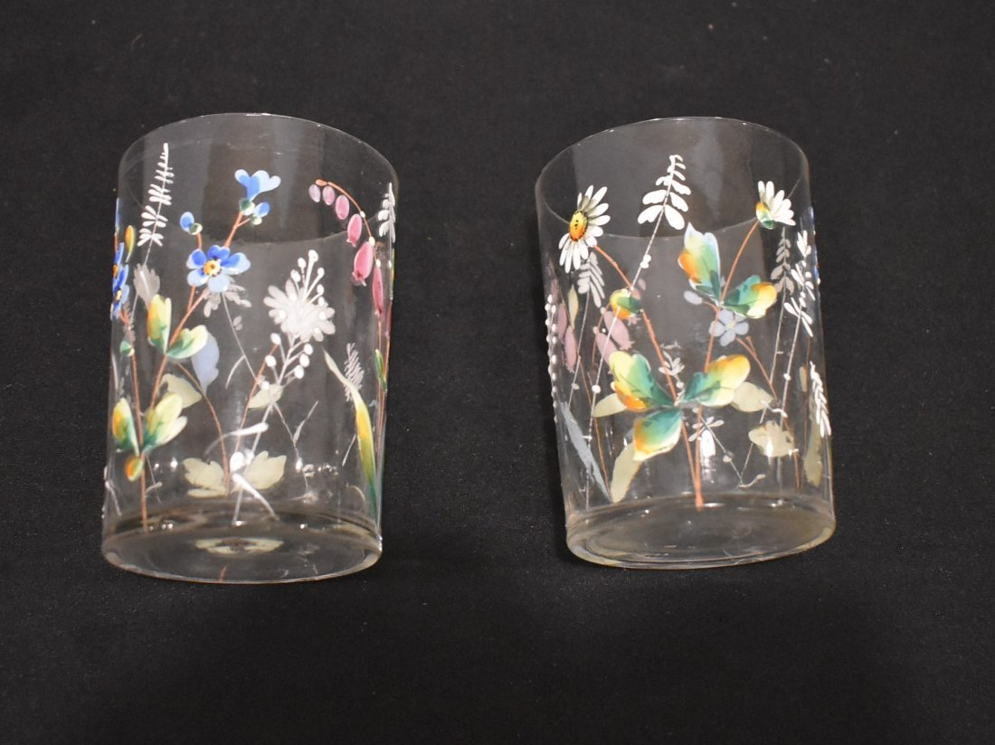 Beautiful Vintage Hand Painted Pitcher & Glasses Set - 4