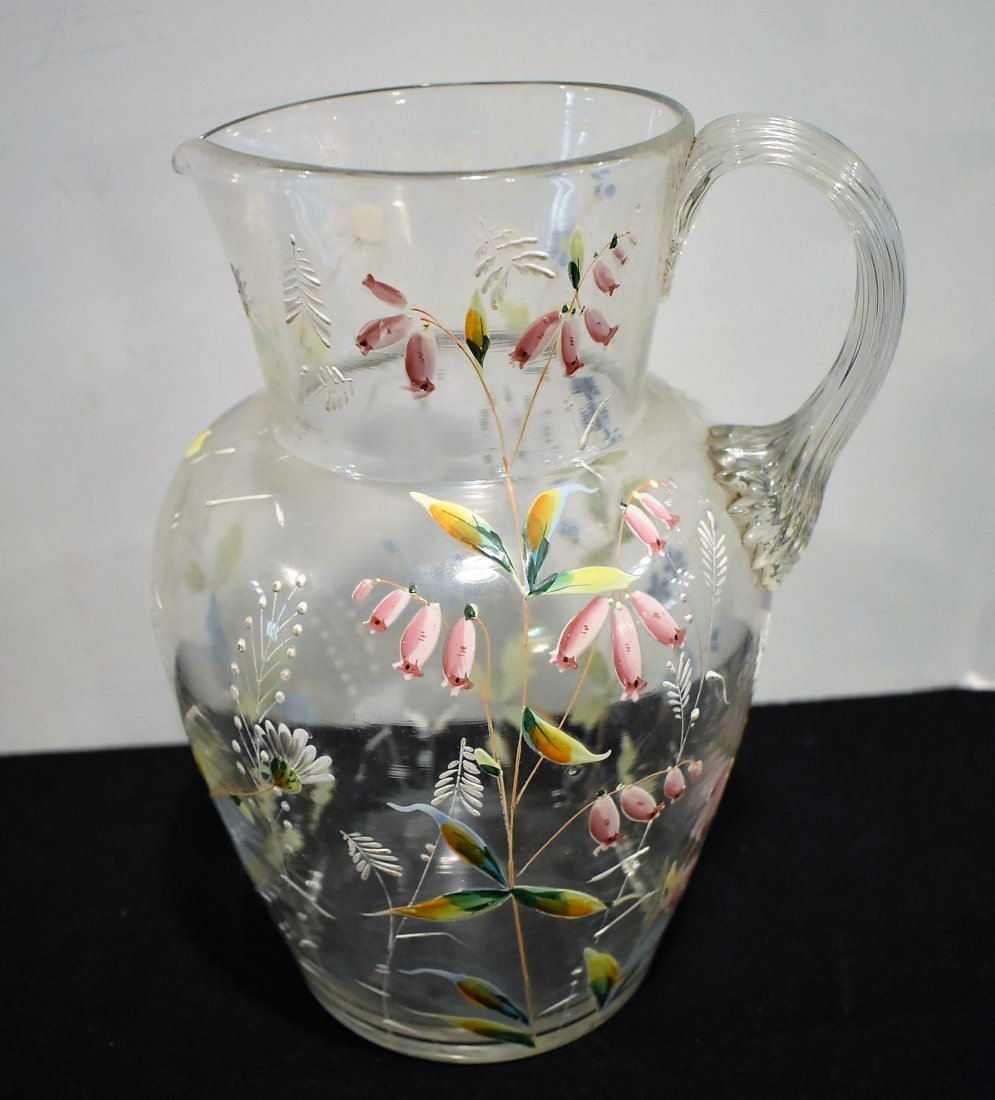 Beautiful Vintage Hand Painted Pitcher & Glasses Set - 5