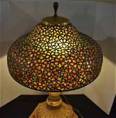 Gorgeous Bauer-Coble Leaded Glass Lamp