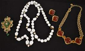 Signed Costume Jewelry Miriam Haskell Hobe Givenchy