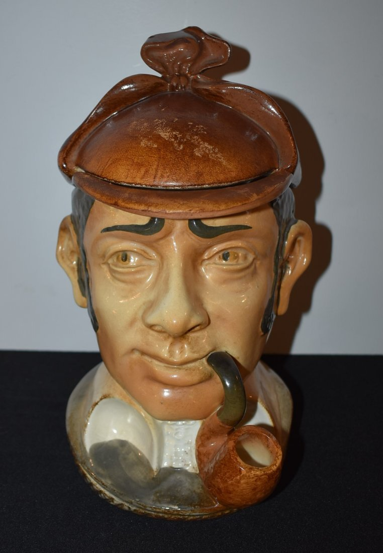 Vintage Sherlock Holmes Humidor Tobacco Jar