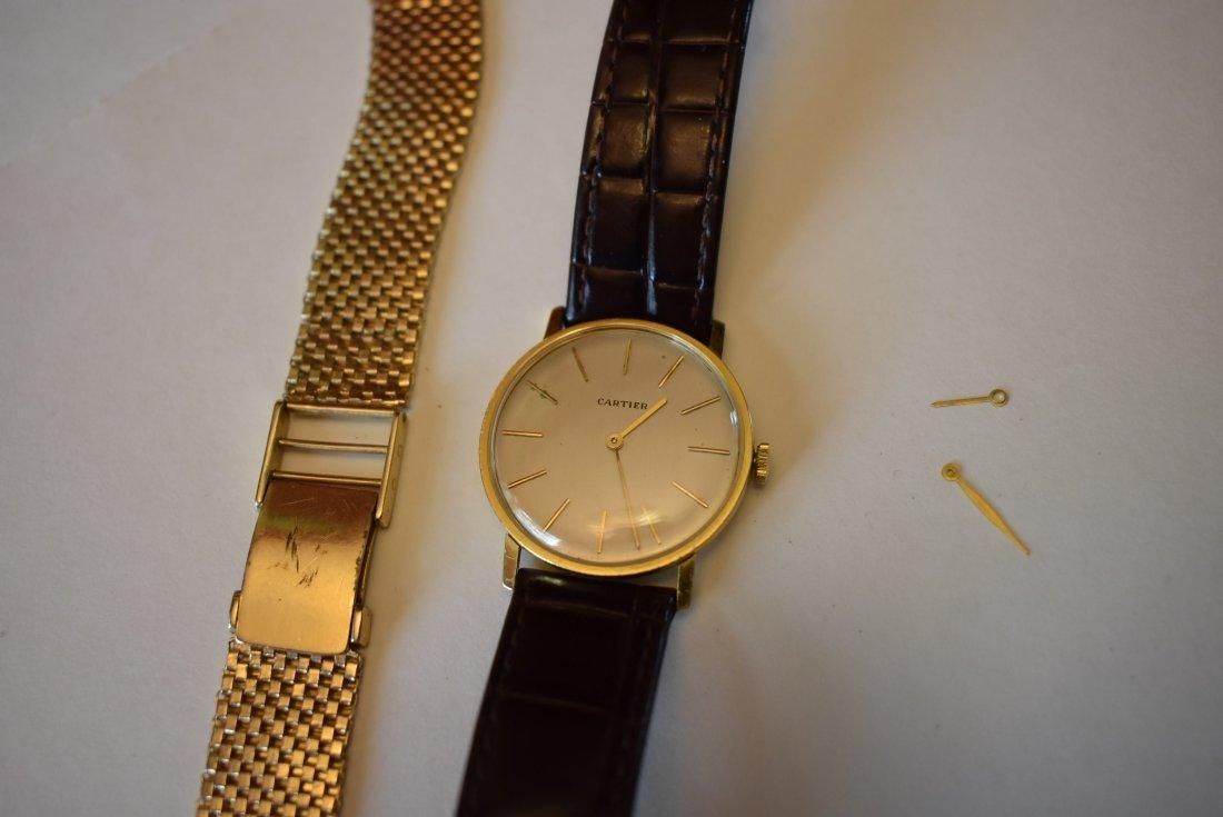 Vintage Mens 18K Gold Cartier Watch