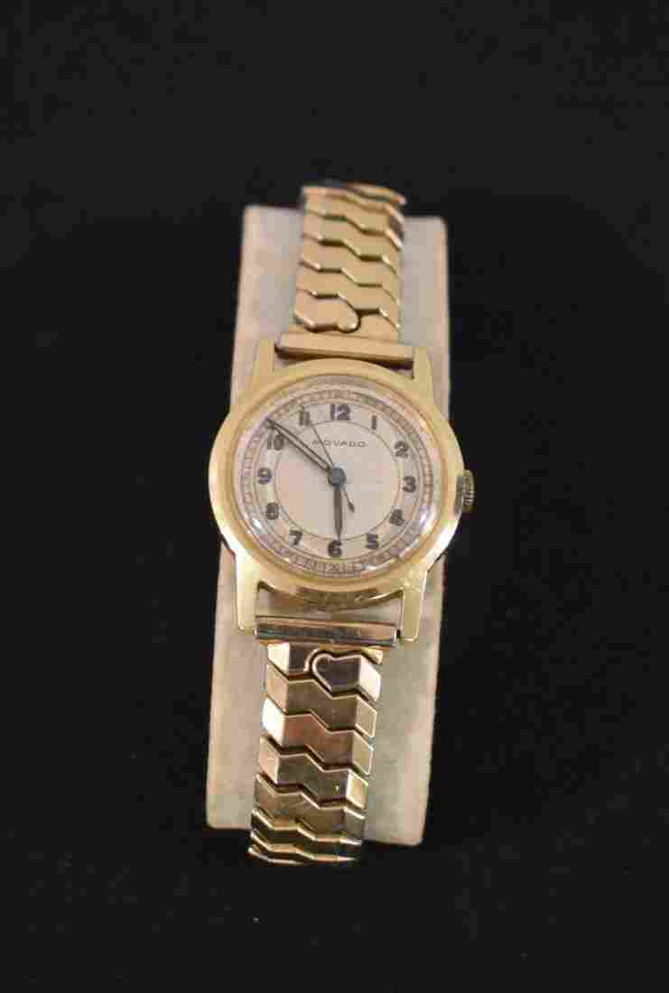 Vintage Mens 14K Gold Movado Watch
