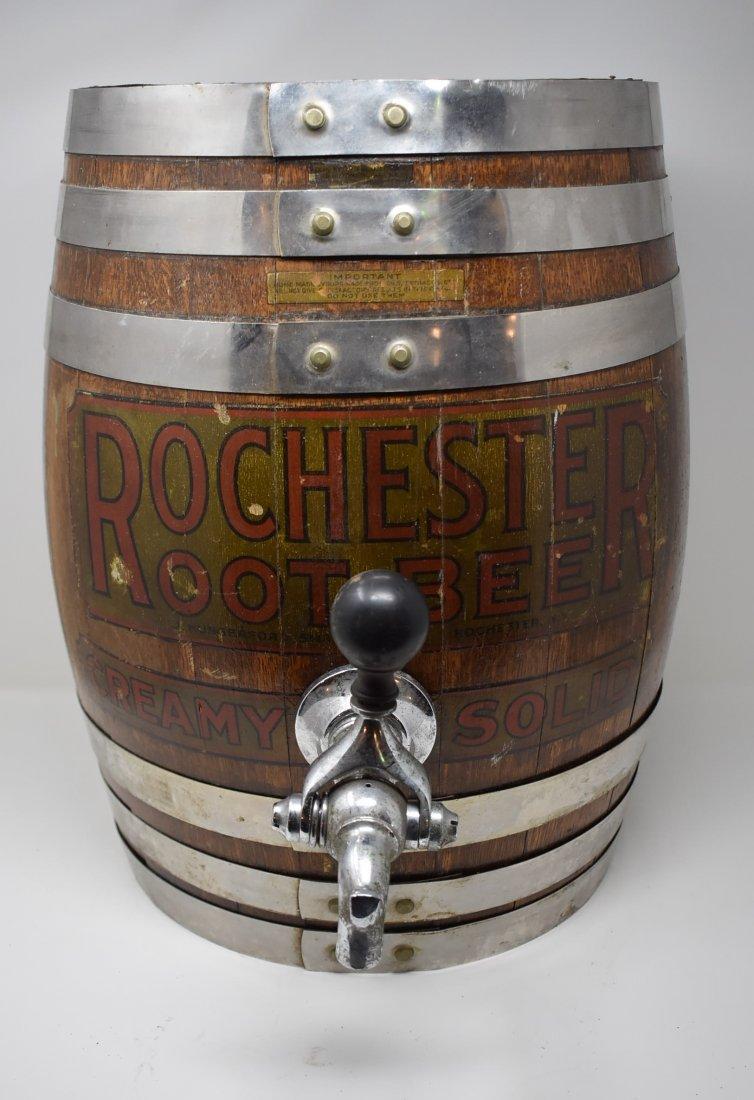Antique Rochester Root Beer Wooden Barrel Keg
