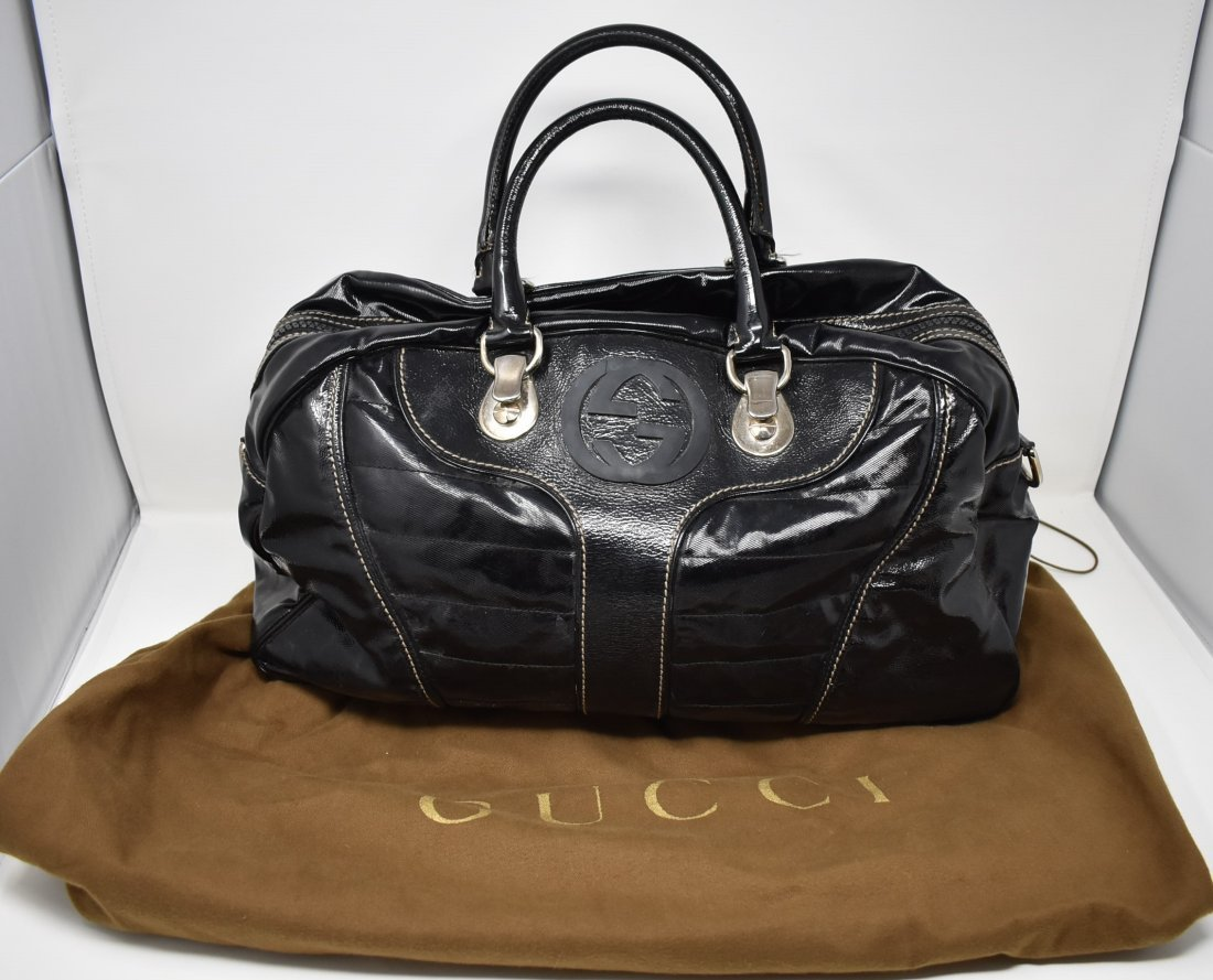 adc5a3928 For Auction: Auth Gucci Black Patent Leather Glam Bag (#320) on Jul 21,  2019 | Lionsmark Auction Company in IL