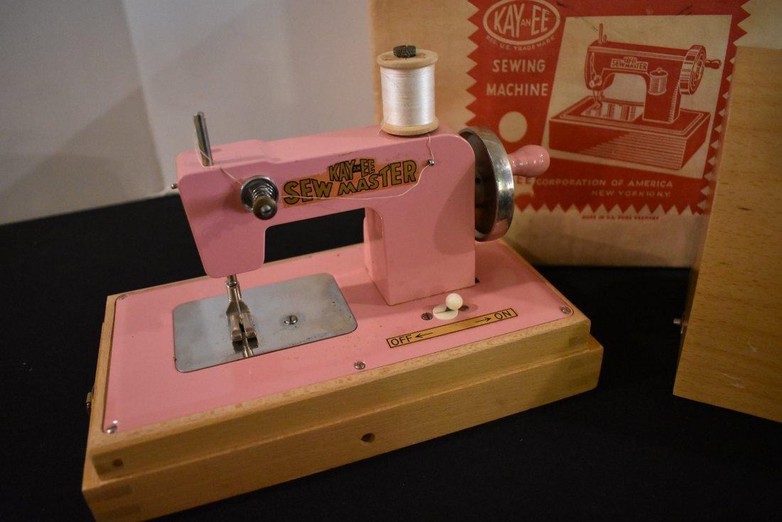 Vintage Kayanee Pink Sewing Machine in Box